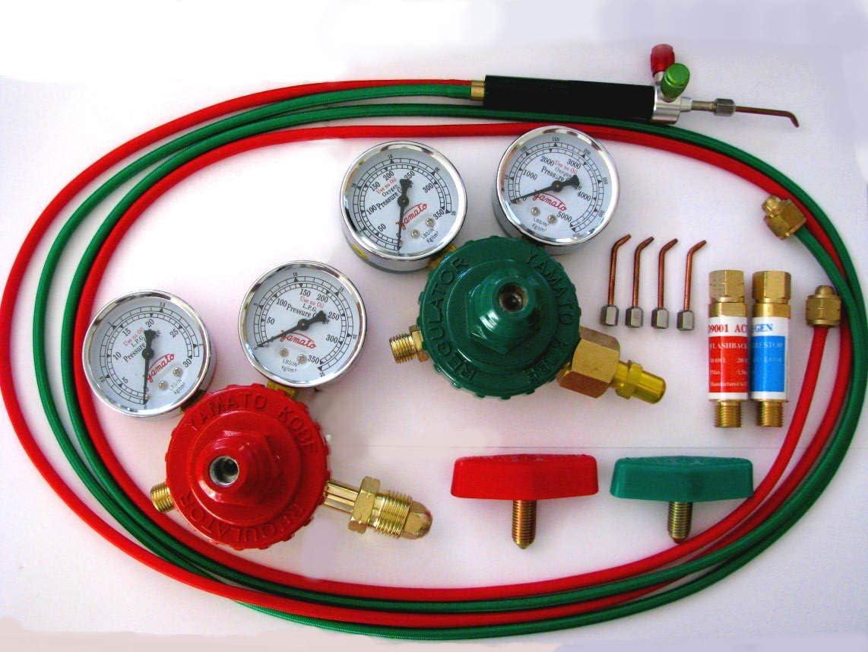 Jeweler's Oxygen/Propane or Acetylene Mini Soldering Torch, Regulator, Arrestor Kit