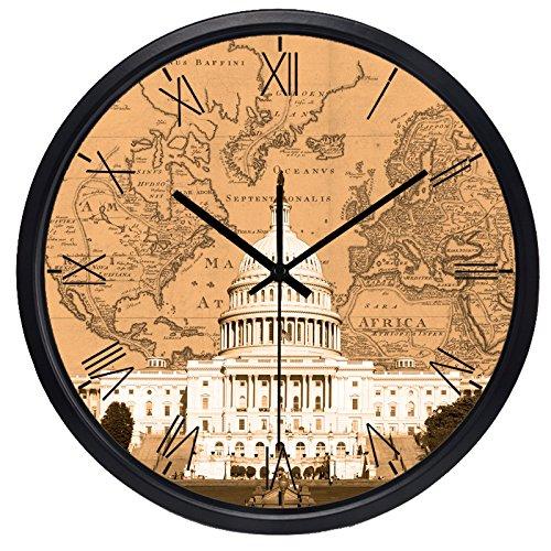 C White House Hotel Lobby Wall Clocks Travel Map Wall Clocks ()