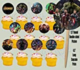 Party Over Here Avengers Infinity War Movie Cupcake Picks Double-sided Images Cake Topper -12