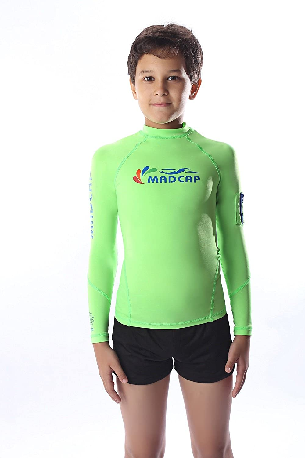MADCAP Boys Rash Guard Long Sleeve Swimwear UV Sun Protection Swimsuits Shirt Top YONGLIN