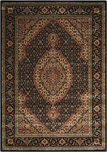 - Nourison Persian Arts Black 5 ft. 3 in. x 7 ft. 5 in. Area Rug