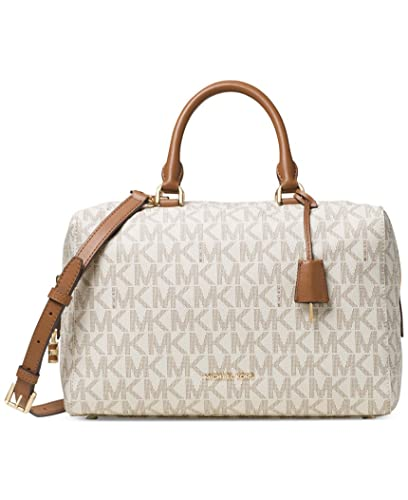 6f7530c76df2 Amazon.com: MICHAEL Michael Kors Women's Kirby Large Satchel Vanilla Handbag:  Michael Kors: Shoes