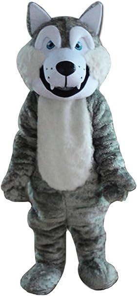 Amazon.com: Lobo mascota de Adultos Disfraz Disfraz de lobo ...