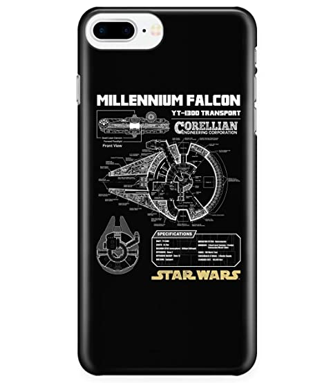 new arrivals fa8fd 1f412 Amazon.com: iPhone 7 Plus/7s Plus/8 Plus Case, Millennium Falcon ...