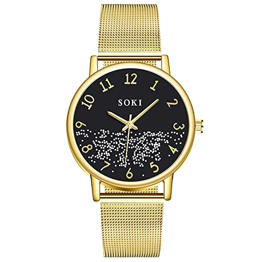 POJIETT Marcas de Relojes Hombre Mujer Deportivos de Moda Reloj de Pulsera de Cuarzo Analogico Negro/Oro Rosa/Oro Wrist Watch Men Mujer Regalos: Amazon.es: ...