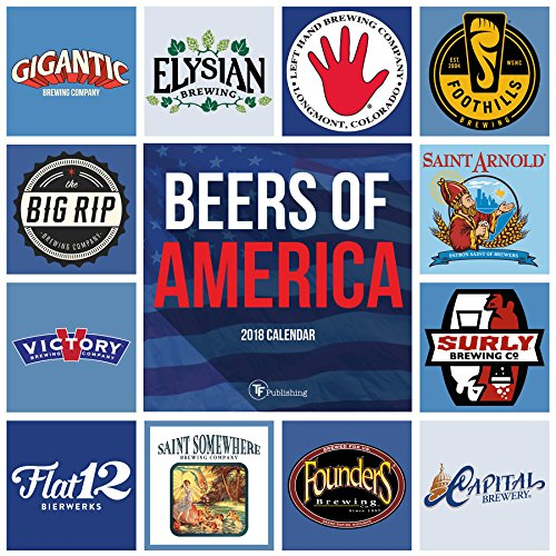 2018 Beers of America Wall Calendar by TF Publishing