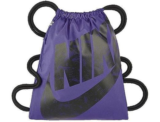 Nike Heritage Gymsack Drawstring Bag (Dark Iris Black) (Dark Iris Black d75d4246b8cb3