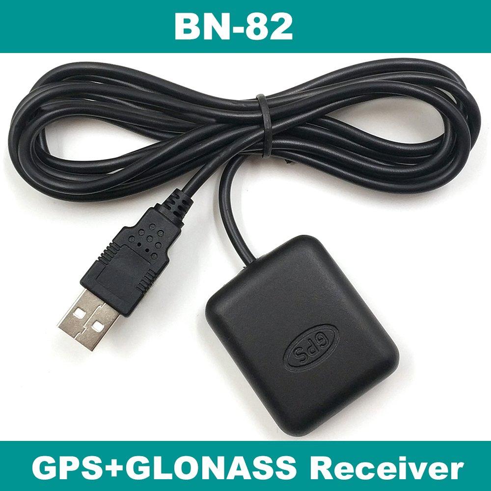 WuLian USB GLONASS GPS Receiver Dual GNSS Receiver Module Antenna,Flash,Laptop PC,1.5m,BN-82,Better Than BU-353S4