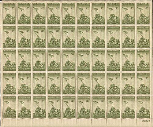 (Iwo Jima Complete Sheet of 50 - 3 Cent Stamps Scott 929)