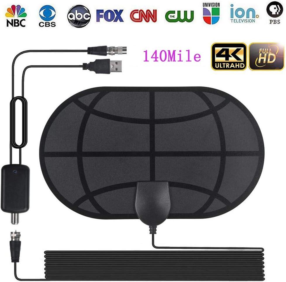 qualité supérieure baskets quantité limitée Antenne TV Intérieur Puissante, Antenne TNT HD 140 Mile Range avec  Amplificateur de Signal Détachable et Câble Coaxial Long 13FT, HDTV  Antennes pour ...