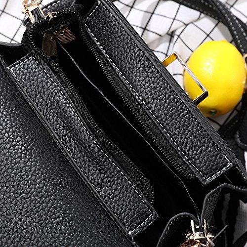 Femelle Meaeo Fashion À Messenger À Noir Sac Bag Bandoulière Bandoulière Sac Black Sauvage q4XqrRvn