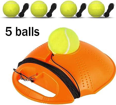 Lqhzwy Tennis Trainer Tennis Trainer Equipment Rebound Baseboard Tennis Ball Training Tennis Self Study Easy To Carry Durable Beginner A Amazon Co Uk Kitchen Home