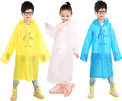 Enfants Garçons//Filles Imperméable Voyage Poncho Imperméable Réutilisable Enfants Randonnée