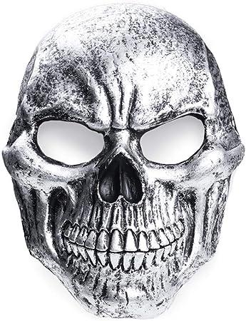EraSpooky Máscara de Calavera Disfraz Disfraces Accesorios Fiesta de Halloween Traje Divertido para Adultos Hombres Mujeres