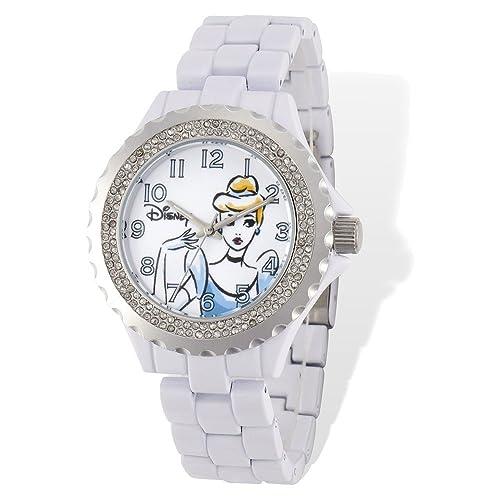 Amazon.com: Disney adulto Tamaño Color Blanco w/Crystal ...