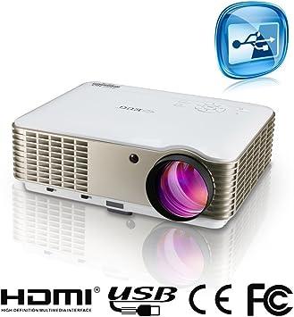 3600 Lumen HD 1080p proyector de Cine en casa 800 resolución ...
