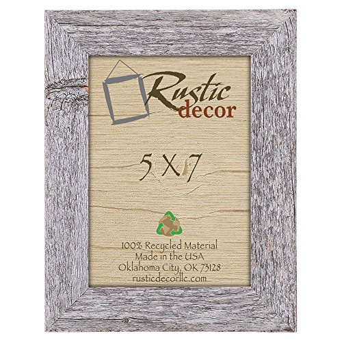5x7 Picture Frames - Barnwood Reclaimed Wood Standard Photo Frame (Rustic Picture Frames 5x7 compare prices)