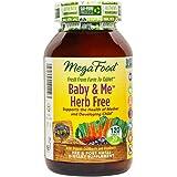 MegaFood - Baby & Me Herb Free, Prenatal & Postnatal Support for Mother & Baby, 120 Tablets