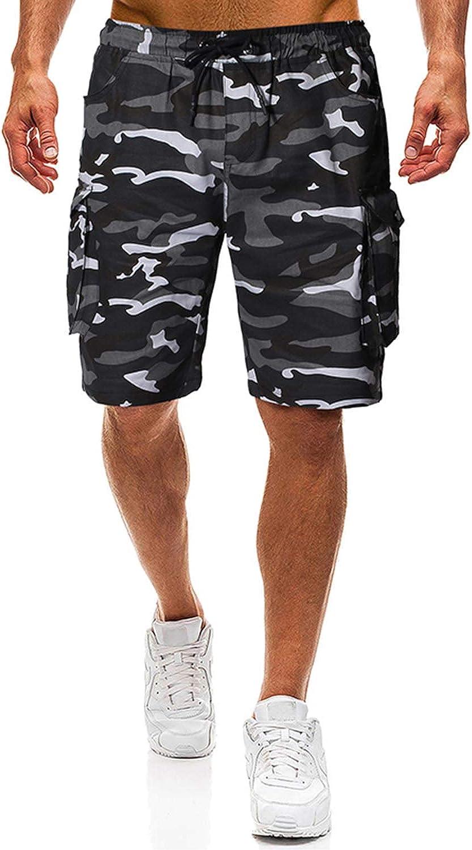 Herren Shorts Kurze Hose Herren Cargo Shorts Bermuda Short Herren Sweatshort Sportshorts Freizeit Laufen L/ässige Camouflage