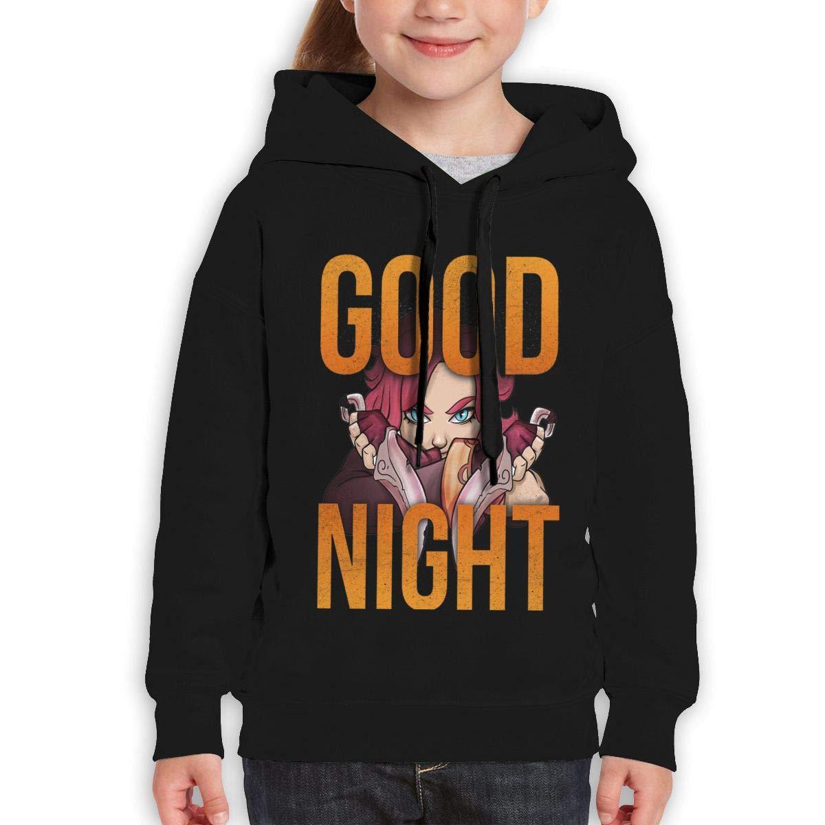 MUPTQWIU Teen Good Night Funny Walk Black Sweater