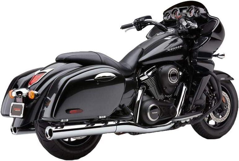 """Cobra Billet Tips Slip-On Exhaust (Chrome / 4"""") for 09-13 Kawasaki VN1700A"""