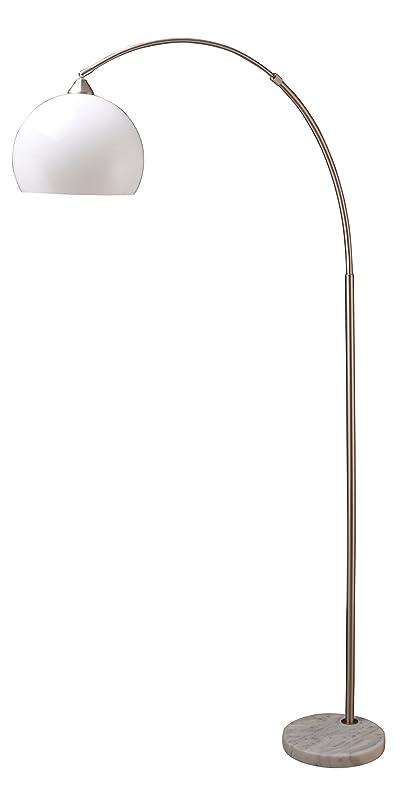 Milton Greens Stars A6937SN Sharon Modern Adjustable Arc Floor Lamp With  Marble Base, 75