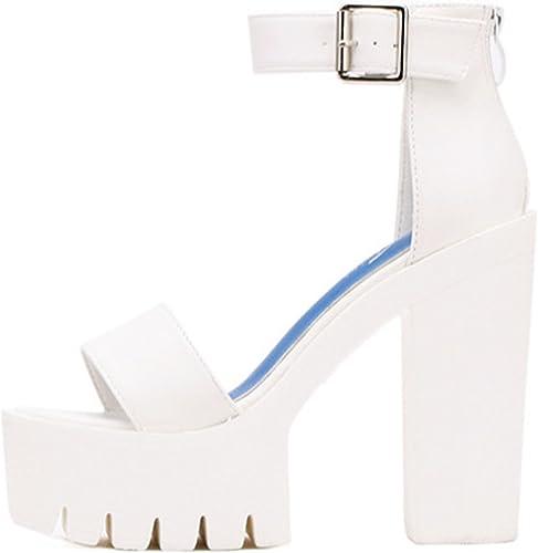 ASjkfuhwuen White Summer Sandal Shoes