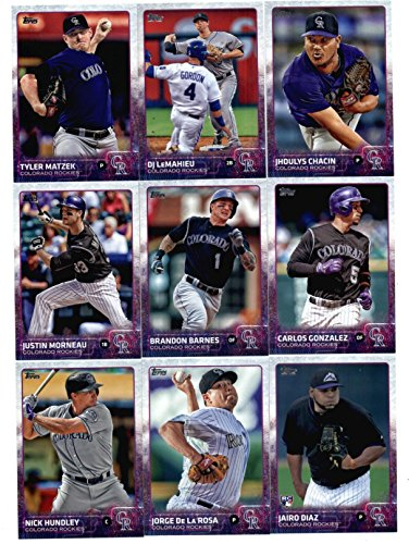 (2015 Topps Baseball Cards Colorado Rockies Team Set In Storage Case (Series 1 & 2 - 23 Cards) Including Charlie Blackmon, Nolan Arenado, Jordan Lyles, Corey Dickerson, Tommy Kahnle, Troy Tulowitzki Team Card, Rex Brothers, Wilin Rosario)