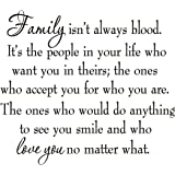 Family Isn't Always Blood Wall Decal Saying Home Decor Stickers Quotes Vinyl Lettering