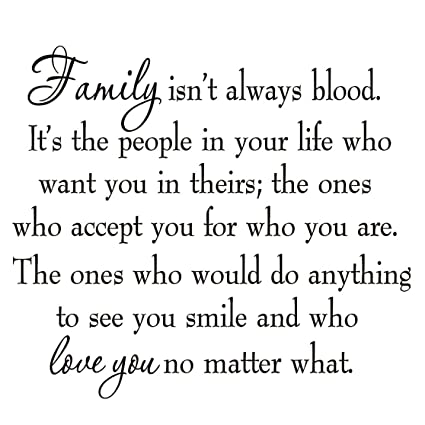 Amazoncom Family Isnt Always Blood Wall Decal Saying Home Decor