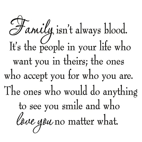 Family Isn\'t Always Blood Wall Decal Saying Home Decor Stickers Quotes  Vinyl Lettering