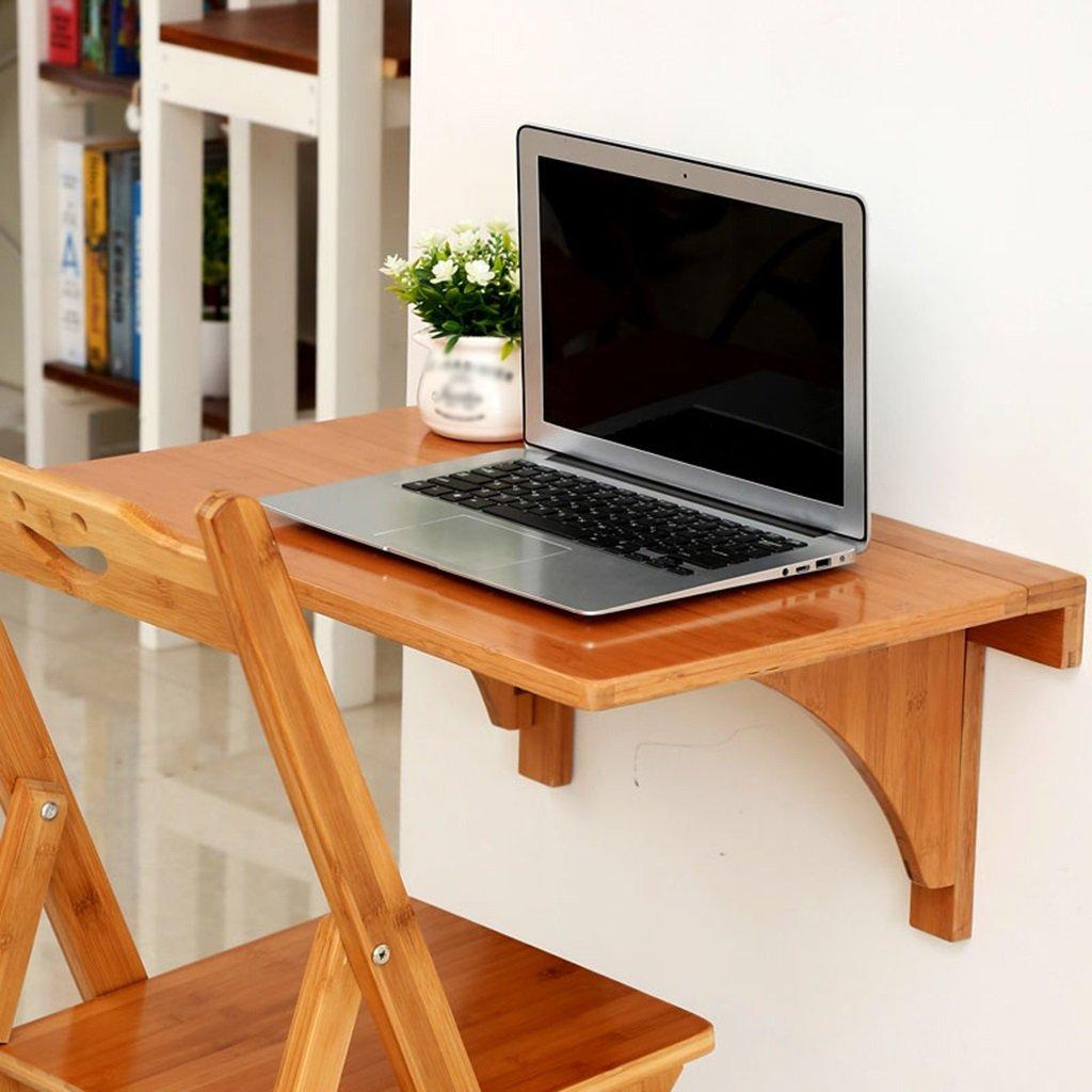 壁掛け式折り畳みテーブルホワイトダイニングテーブル壁掛けコンピュータデスクサイドテーブル ( 色 : Bamboo color , サイズ さいず : 70cm*45cm ) B07BTNDC8Z 70cm*45cm|Bamboo color Bamboo color 70cm*45cm