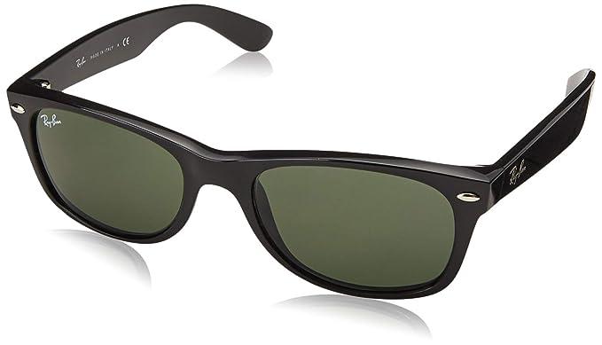 042ae99b4d Ray-Ban Men 's New Wayfarer anteojos de sol cuadrados, negro, 52Â mm ...