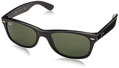 d026812ca583 Amazon.com: Ray-Ban NEW WAYFARER - BLACK Frame CRYSTAL GREEN Lenses ...