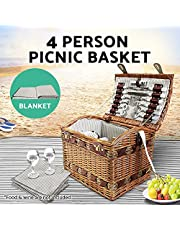 Alfresco Picnic Basket for 4 Person Picnic Set