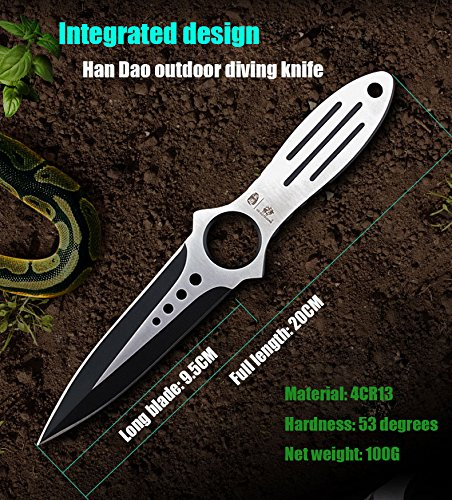 HX outdoors Scuba Diving Knife Tactical Camping Knives Double Edge Sharp Blade Cs Go Hunting Survival pocket hand tools by HX outdoors (Image #5)