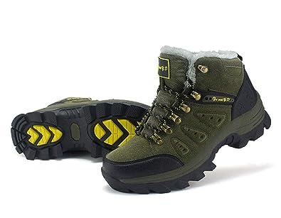 ZXLO Walking Shoes Women s Lace-Up Sneaker Winter Warm Ankle Athletic Boots  Memory Foam Men 8630095a5