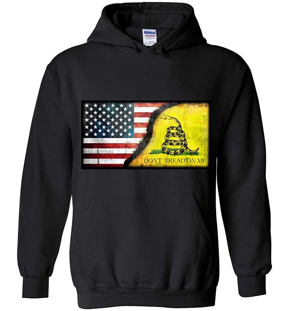 American Flag Dont Tread On Me Grunged Hoodies Adult and Youth Size