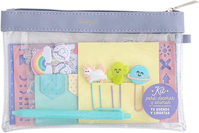Mr. Wonderful Kit para personalizar y animar tu agenda y libretas: Amazon.es: Oficina y papelería