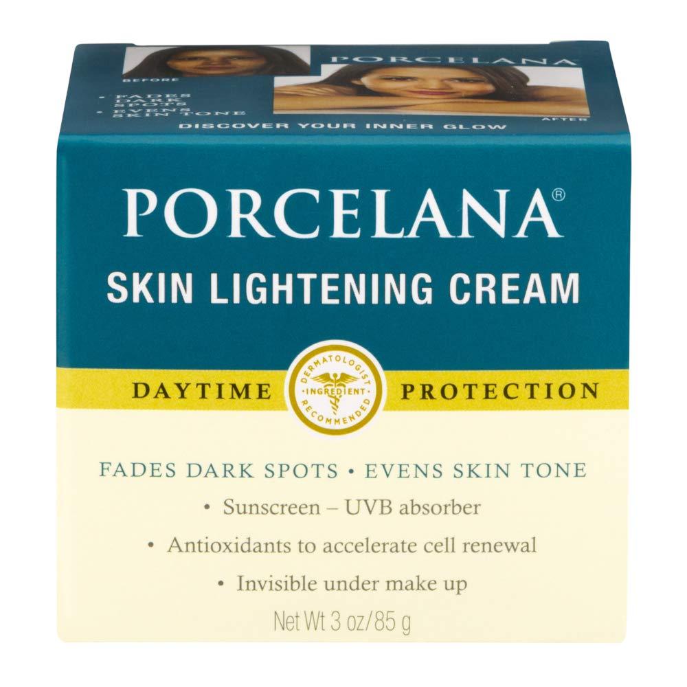 Porcelana Daytime Skin Lightening Cream Clinical Strength Dark Spot Corrector Plus Sunscreen, 3 Ounces