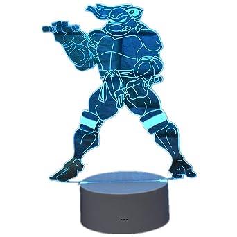 Luz de noche decorativa 3D Teenage Mutant Ninja Turtle Mikey ...