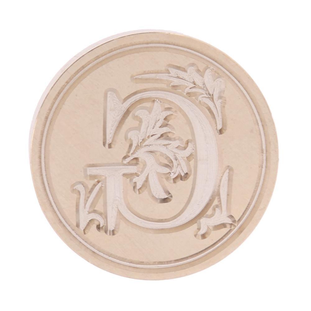 con lettera in stile r/étro e fiore sigillo in rame 25 * 25 * 25mm F Timbro decorativo antico in ceralacca