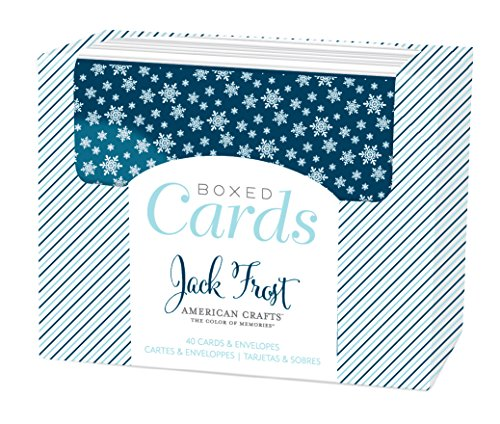 American Crafts Boxed Cards North Pole Cards & Envelopes (40 Pack) - Exclusive Boxed Set