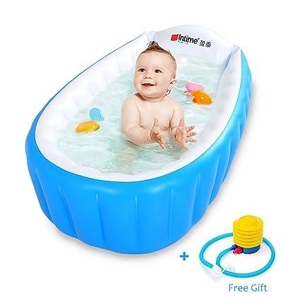 Amazon.com: Bañera hinchable para bebé, para niños ...