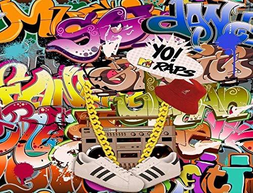 Yo! MTV Raps 90s TV Show Graffiti Edible Cake Topper Image ABPID27790 - 1/2 sheet
