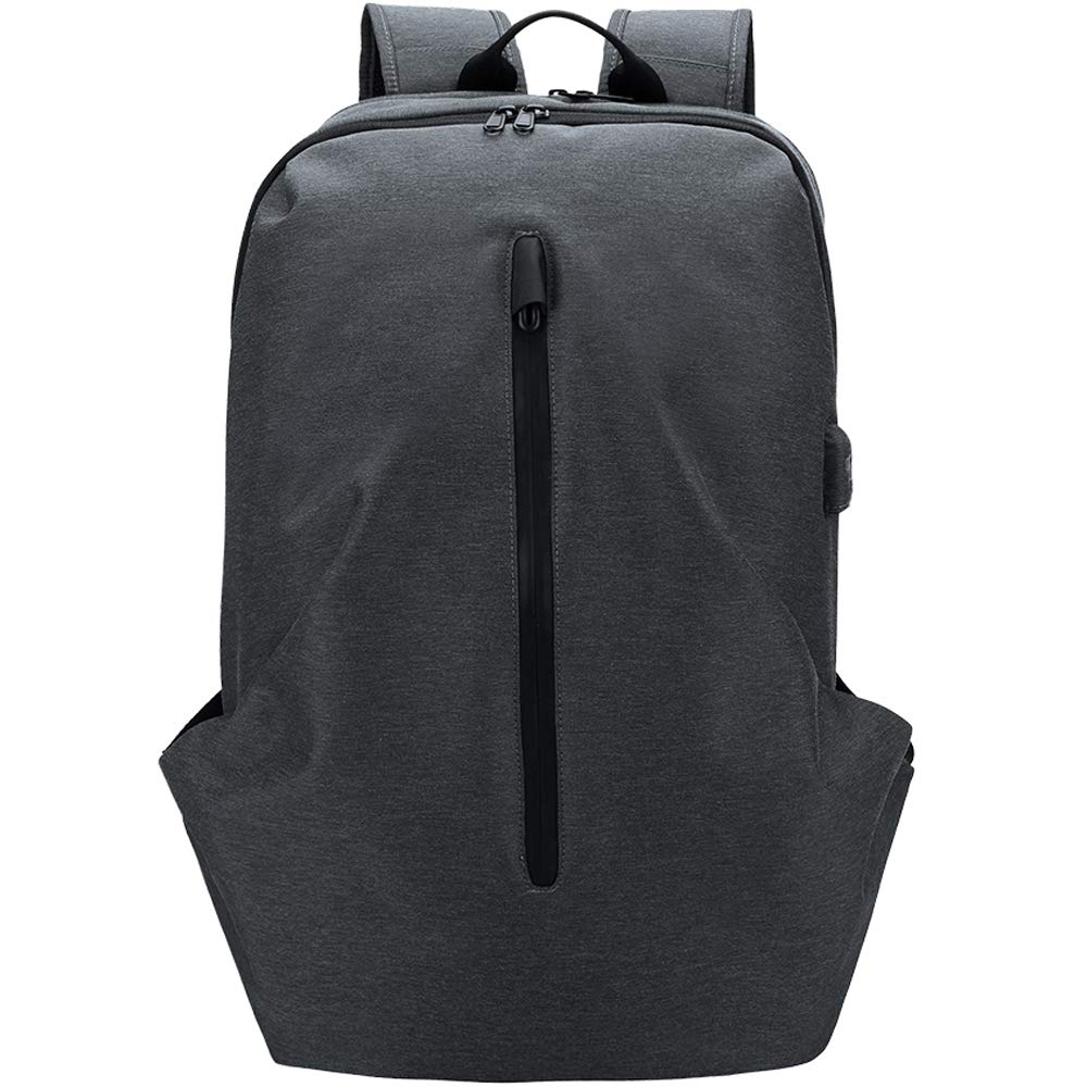 PELLIOTラップトップバックパック、盗難防止15インチリュックサック(USB充電ポート付き)、防水大型カレッジスクールコンピュータバッグサイクリングバックパック(男性/女性用) - ブラック B07K22HKW2