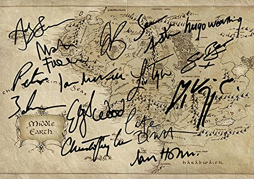 The Hobbit Lord of The Rings Middle Earth Map Movie Print - (Lord Of The Rings Collectibles)