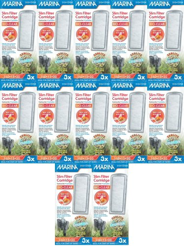Goldfish Aquarium Filters (Marina Bio Clear Cartridge for Slim Filters 36pk (12 x 3pk))