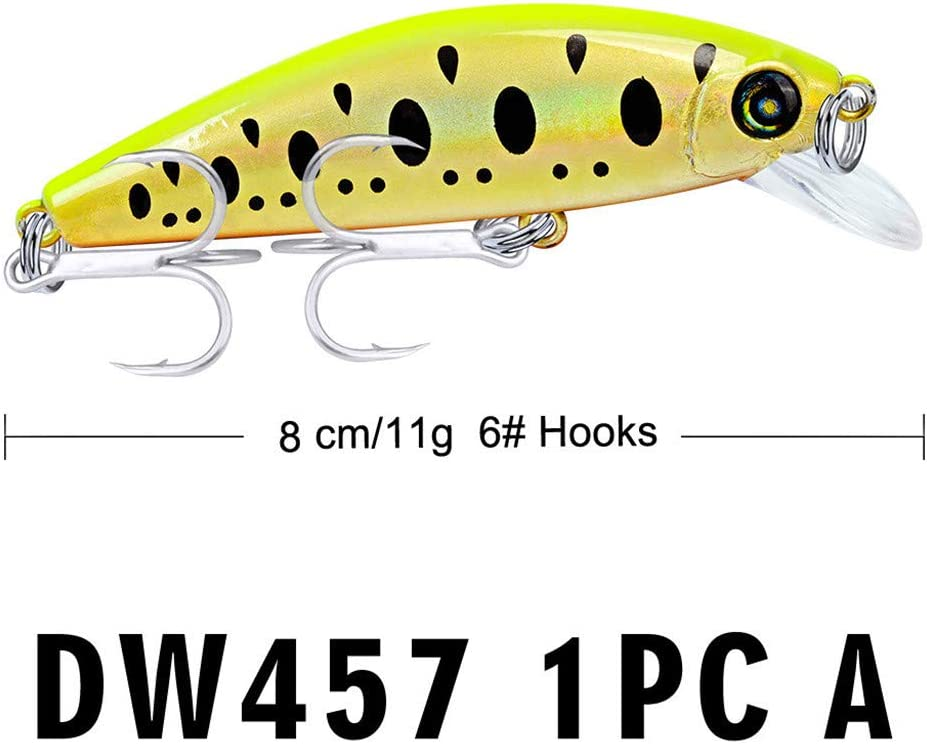 6 x Rubber Lures 8cm White Yellow  Fishing
