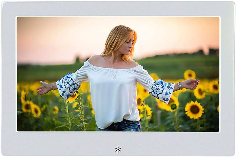 White Digital Photo Frame 8inch Touch Screen 1280 800 Built in 32gb Memory Portrait/&Landscape Instantly Photo /& Video Sharing Moments